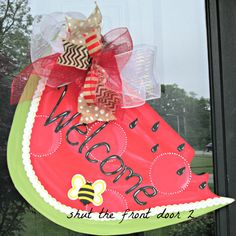 Hey, I found this really awesome Etsy listing at https://www.etsy.com/listing/153574428/watermelon-door-hanger