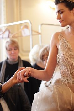 """"""" Backstage at Javier Saiach Haute Couture Spring/Summer 2016. Credits: Michelle Balietti Photography """""""
