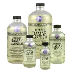 Lavender-Damar-Varnish. Our CCS Lavender Damar Varnish™ is a final protective varnish for oil painting. It can be diluted with our CCS Lavender Spike Oil Essence™ to make a retouch varnish, or mixed with mediums to add gloss and dry faster. Rather than being made with turpentine that has toxic fumes and health side effects, our varnish is made with CCS Lavender Spike Oil Essence™ known for its distinctive non-toxic lavender scent.