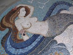 Mosaic Mermaid ~ at The Sooke Harbour House ~  on Vancouver Island