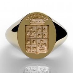 Ring Bear, Wax Seals, Gravure, Signet Ring, Coat Of Arms, Class Ring, Gold Rings, Rings For Men, Monogram