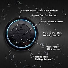 IPX7 Bluetooth Shower Speaker - **Lifetime Guarantee** - Waterproof & Dustproof - 2015 Model - Portable - Indoor/Outdoor Use - Perfect for the Shower, Pool, Bath, Beach, Boat, Car, or Outside - iPhone, iPad, iPod, Android - Satisfaction Guaranteed!