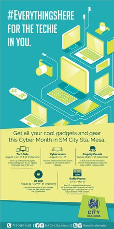 #EverythingsHere for the TECHIE IN YOU! Celebrate CYBERMONTH this AUGUST at SM City Sta. Mesa  #SMStaMesaCybermonth #FeelTheHashTag