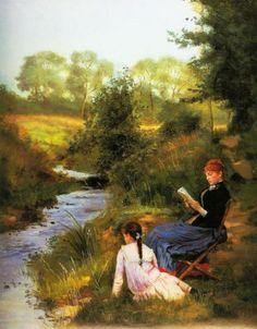 Summer day, Charles Louis Baugniet. Belgian (1814-1886)