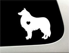 I love my Collie Car Decal  (http://thedecalguru.com/car-decals/collie-dog-car-decal/)
