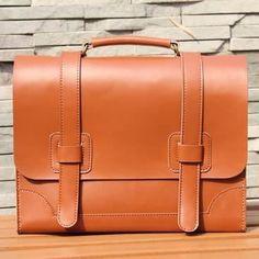 "Image of Handmade Genuine Leather Briefcase Messenger 14"" Laptop Bag / Case (m3)"