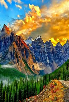"maya47000: "" Breathtaking colors over the mountains """