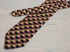 Givenchy Gentleman Paris novelty blue silk neck tie Couples of ducks necktie $20 #Givenchy #Tie