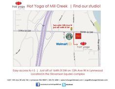 Join us today! The hottest studio in the Northend, Hot Yoga of Mill Creek!