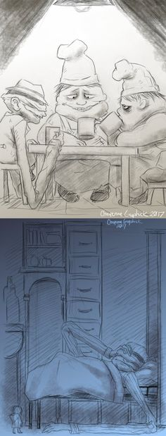 Little Nightmares doodles -2- by Cageyshick05