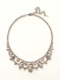Round Crystal Lace Bib Necklace in Satin Blush - Sorrelli