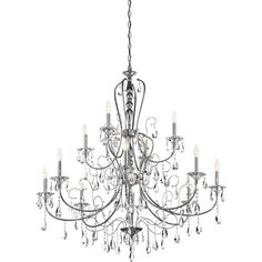 Jules Collection 12 light Chandelier in Polished Chrome ❤ liked on Polyvore featuring home, lighting, ceiling lights, outdoor lamps, outdoor hanging lamp, outside lamps, outdoor ceiling lights y outdoor chandelier lighting
