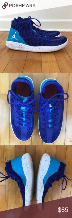 """Men's Jordan Reveal """"Charlotte Hornets"""" colorway. Concord and Blue Lagoon upper. Very light and breathable. Excellent condition. {PP} Jordan Shoes Sneakers"""