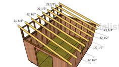 This step by step woodworking project is about free garden shed plans. This is PART 2 of the project, where I show you how to build the roof for the storage shed. Lean To Shed Plans, Diy Shed Plans, Garage Plans, Garage Ideas, Wood Shed Plans, Deck Building Plans, Building A Shed, Building Design, Shed Kits