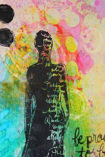 Art journaling: Atelier Dina Wakley Journal D'art, Art Journal Pages, Art Journaling, Journals, Mix Media, Mixed Media Art, Art Postal, Gelli Arts, Silhouette Clip Art