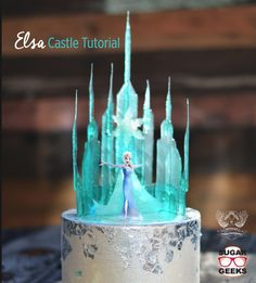 The beautiful teal hued backdrop and Elsa's strong personality on display