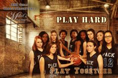 HS Girl's Basketball Team banner Mikel's Photography & Design www.MikelsPhotography.com 702-564-7166
