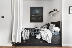 Gravity Home : Black and blue studio apartment Follow Gravity...