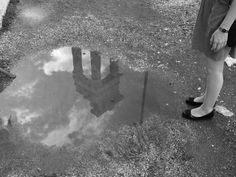 rome, reflection of pillars in a puddle of water Reflection, Water, Artwork, Viajes, Water Water, Art Work, Aqua, Work Of Art, Auguste Rodin Artwork
