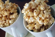 Heat Oven to 350: Ooey-Gooey Caramel Popcorn. Love this site!