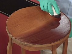 Here are basic steps on how to stain wood furniture. You'll be able to brag about your next project! @DIY Network