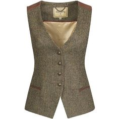 Women's Dubarry Daisy Tweed Waistcoat (5,200 MXN) ❤ liked on Polyvore featuring outerwear, vests, vest, tweed waistcoat, waistcoat vest, daisy vest, vest waistcoat and layered vest