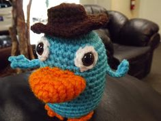 My Crocheted World: Perry the Platypus Free Crochet Pattern!!