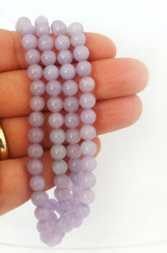 Gorgeous stone beads! 2 Strands Lavender Jade Round Beads Loose 5mm Light Purple Gem Stone 16 in Each | eBay #elegantkb