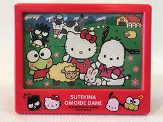 Rare Sanrio Character Town Hello Kitty Keroppi Pochacco Badtz Picture Frame 1995