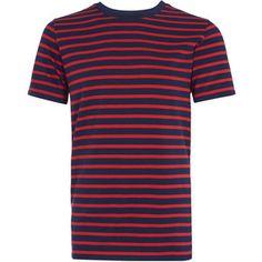 A.P.C. Navy Stripe Short Sleeve T-Shirt