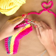 How to knit stripes