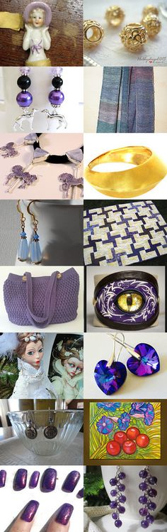 LADY IN LAVENDAR WITH GOLD.............Gratitude Treasury by Pat Peters on Etsy--Pinned+with+TreasuryPin.com