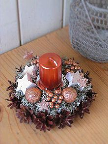 Svietidlá a sviečky - svietnik v medenom - 6202705_