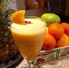 na hubnuti pomeranc ananas Detox Drinks, Raw Vegan, Hot Chocolate, Cocoa, Smoothies, Paleo, Health Fitness, Pudding, Cooking