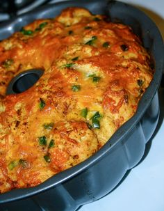 Cheesy Mexican Pull-apart Bread. Like savory monkey bread with jalapenos and cheese!