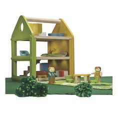 My First Dollhouse Playhouse with Furniture & 2 Dolls | Doll Lover