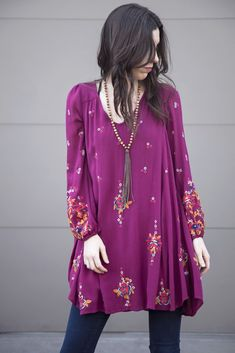Free People Oxford Embroidered Mini Lilac OB581283 | Women's Fashion | Spring 2017 | Women's dresses