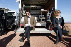Matt Smith & Alex Kingston.   Doctor Who & River Song.