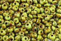 TOHO 3mm Magatama Beads - HYBRID Sour Apple Picasso [TM-03-Y310]