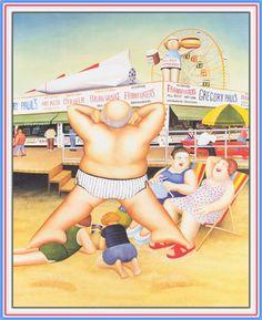 Coney Island. Artwork by Beryl Cook
