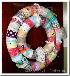 Cute wreath idea.