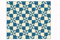 My Hunter's Star quilt pattern shows you how to make an easy version of this popular design. Make a scrap quilt or sew with a few colors -- your choice.: How to Make a Hunter's Star Quilt Beginner Quilt Patterns, Star Quilt Patterns, Quilting For Beginners, Quilting Tutorials, Quilting Projects, Quilting Designs, Easy Patterns, Pattern Ideas, Pattern Design