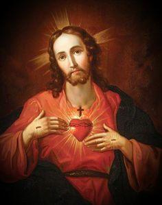 The beautiful Sacred Heart of my Lord and Saviour Jesus Christ. God and Jesus Christ Image Jesus, Jesus Christ Images, Jesus Art, Jesus Prayer, Jesus Is Lord, Jesus Help, Religious Images, Religious Art, Jesus E Maria