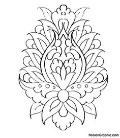 Islamic Art Pattern, Pattern Art, Colouring Pages, Coloring Books, Persian Pattern, Persian Motifs, Metal Embossing, Pattern Illustration, Calligraphy Art