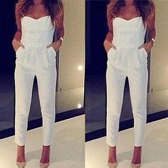 EL Sexy Women Lady V Neck Sleeveless Bodycon Jumpsuit Romper Trousers Clubwear - EXCLUSIVE DEAL! BUY NOW ONLY $5.39