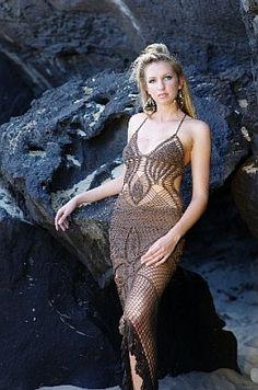Sexy Crochet Goddess Dress