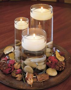 Floating candles are a lot of fun, and are enjoyable to display for family and friends. Here are several different designs and styles to generate some ideas. Diwali Decorations, Light Decorations, Floating Candle Centerpieces, Centrepieces, Floating Lights, Flower Rangoli, Simple Rangoli, Festival Lights, Table Toppers