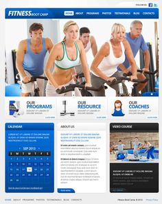 Fitness Boot Camp Fitness Website Templates