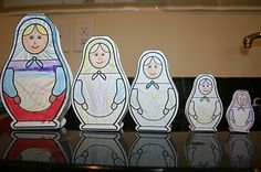 Adventures in Homeschooling: Russia Unit Study http://mssscrafts.com/crafts/matryushka/ for these nesting paper dolls