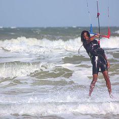 From samuelmichaille#kite #kitesurf #kitesurfing #surfing #surf #surfer #frenchrider #happy #vietnam #wind #sun #waves #kitesurfing #kiteboarding #kitesurf #kiteboard